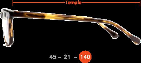 Temple length